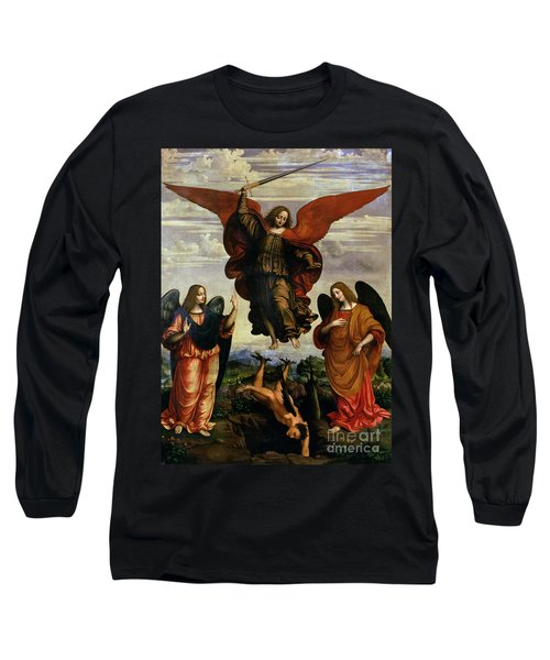 The Archangels Triumphing Over Lucifer Long Sleeve T-Shirt