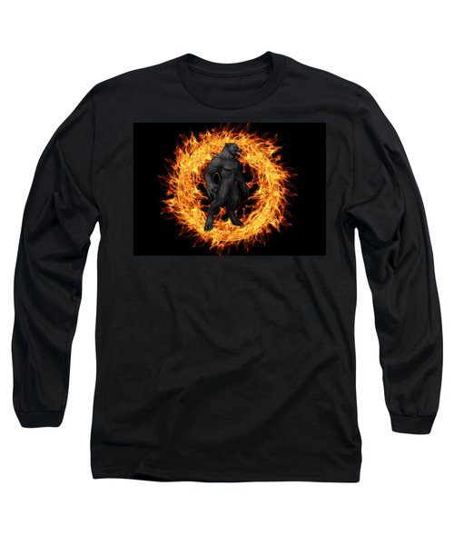 The Beast Emerges From The Ring Of Fire Long Sleeve T-Shirt
