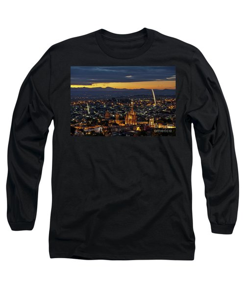 The Beautiful Spanish Colonial City Of San Miguel De Allende, Mexico Long Sleeve T-Shirt by Sam Antonio Photography