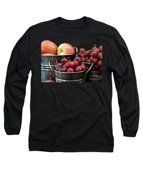 The Beauty Of Fresh Fruit Long Sleeve T-Shirt by Sherry Hallemeier