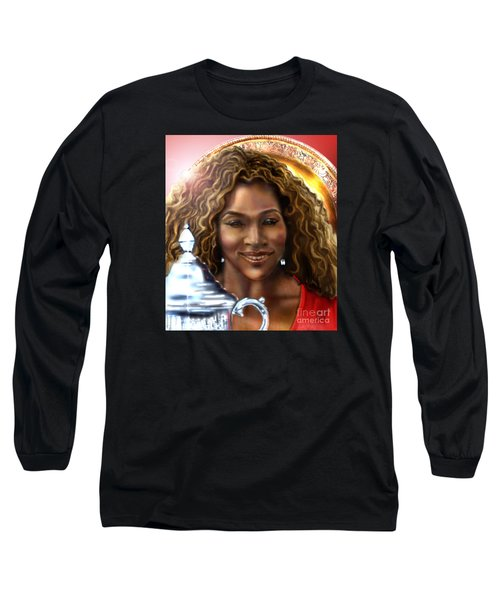 The Beauty Victory That Is Serena Long Sleeve T-Shirt by Reggie Duffie