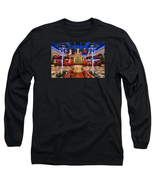 Long Sleeve T-Shirt featuring the photograph The Bellagio Christmas Tree And Decorations 2015 by Aloha Art