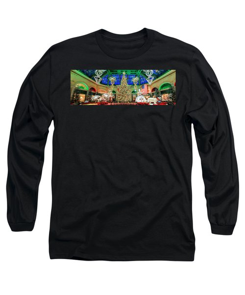 The Bellagio Christmas Tree Panorama 2017 Long Sleeve T-Shirt