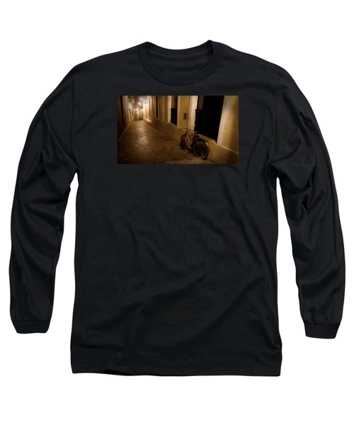 Long Sleeve T-Shirt featuring the photograph The Bicycle And The Brick Road by DigiArt Diaries by Vicky B Fuller