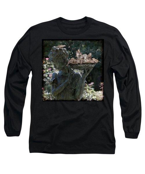 The Bird Bath Long Sleeve T-Shirt by Chris Lord