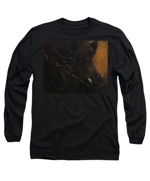 The Black Wildboar Long Sleeve T-Shirt