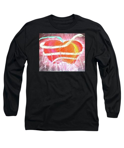 The Bleeding Heart Of The Illuminated Forbidden Fruit Long Sleeve T-Shirt by Talisa Hartley