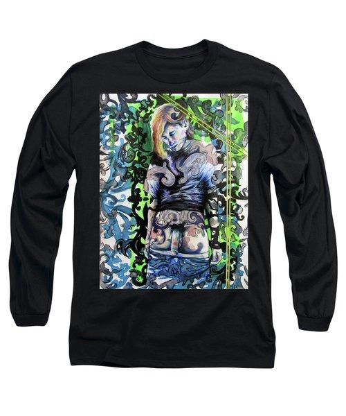 The Blond Bomber  Long Sleeve T-Shirt