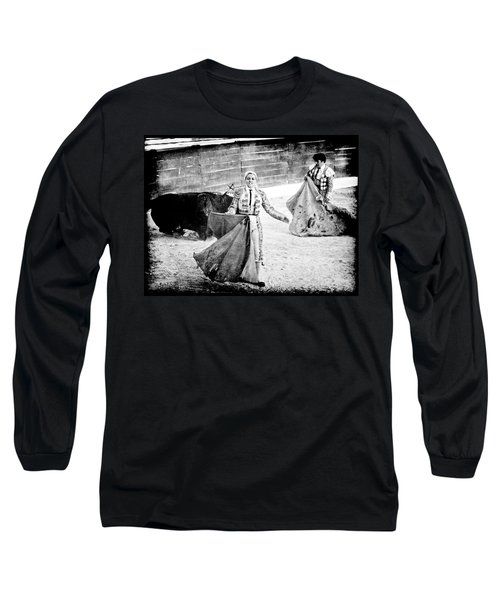 The Blond, The Bull And The Coup De Gras Bullfight Long Sleeve T-Shirt