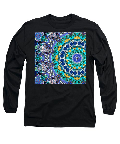 Long Sleeve T-Shirt featuring the digital art The Blue Collective 04b by Wendy J St Christopher