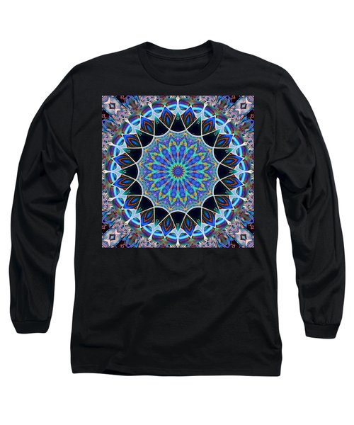 Long Sleeve T-Shirt featuring the digital art The Blue Collective 09 by Wendy J St Christopher