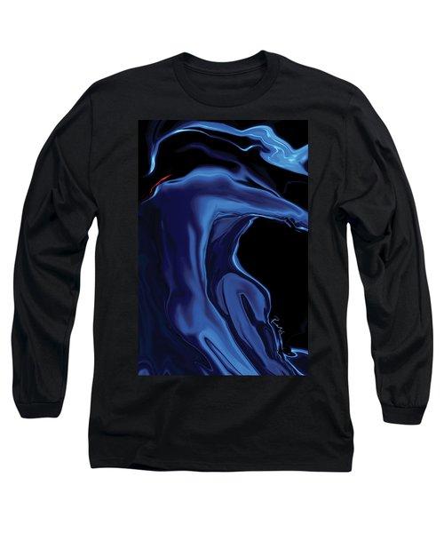 The Blue Kiss Long Sleeve T-Shirt by Rabi Khan