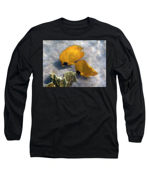 The Bluecheeked Butterflyfish Long Sleeve T-Shirt