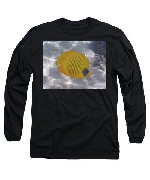 The Bluecheeked Butterflyfish Red Sea Long Sleeve T-Shirt