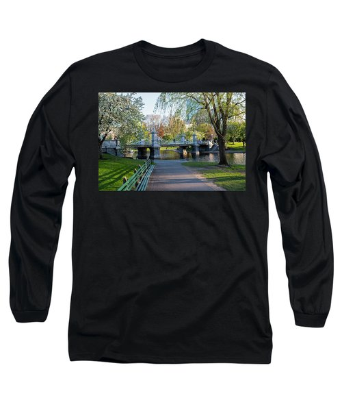 The Boston Public Garden In The Spring Boston Ma Long Sleeve T-Shirt