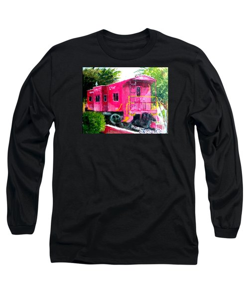 Long Sleeve T-Shirt featuring the painting The Caboose by Jim Phillips