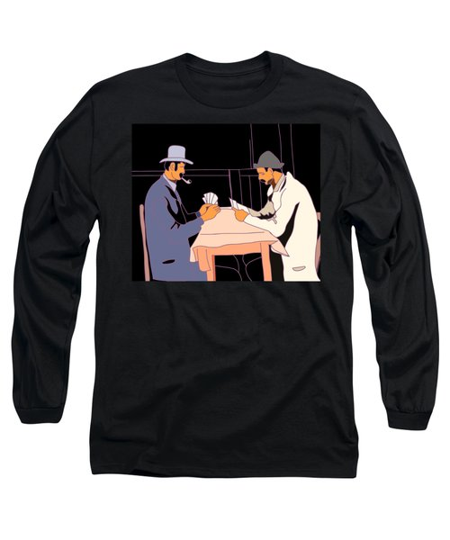 The Card Players Long Sleeve T-Shirt