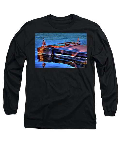 The Vintage 1958 Chris Craft Long Sleeve T-Shirt by David Patterson