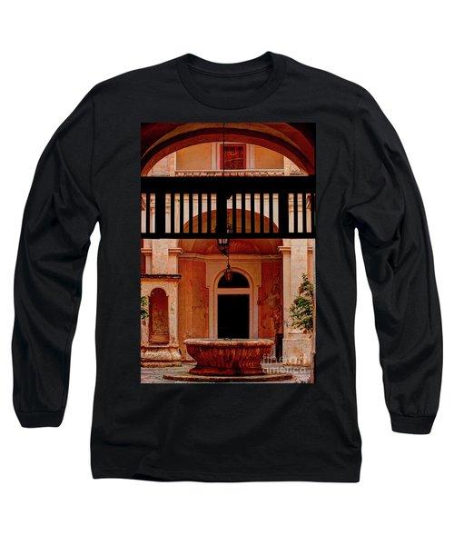 The Court Yard Malta Long Sleeve T-Shirt by Tom Prendergast