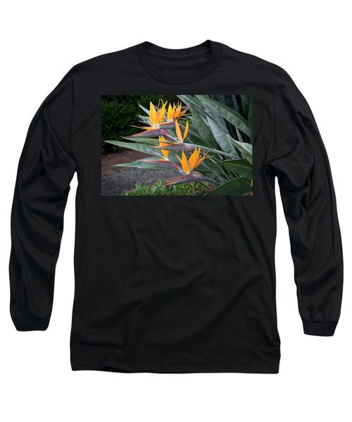 The Crane Flower - Bird Of Paradise  Long Sleeve T-Shirt