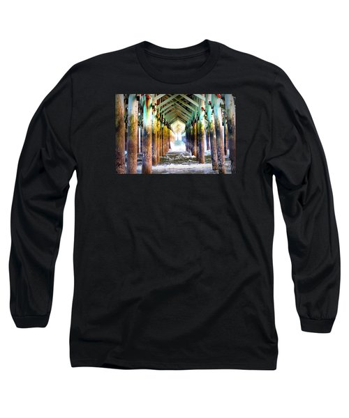 Long Sleeve T-Shirt featuring the photograph The Cross Before Us by Shelia Kempf