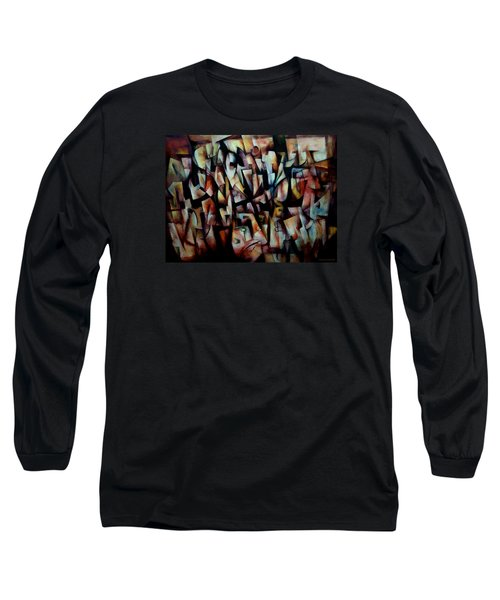The Crowds Long Sleeve T-Shirt by Kim Gauge