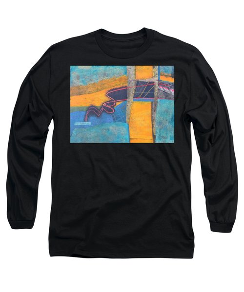 Long Sleeve T-Shirt featuring the mixed media The Digital Age by Nancy Jolley