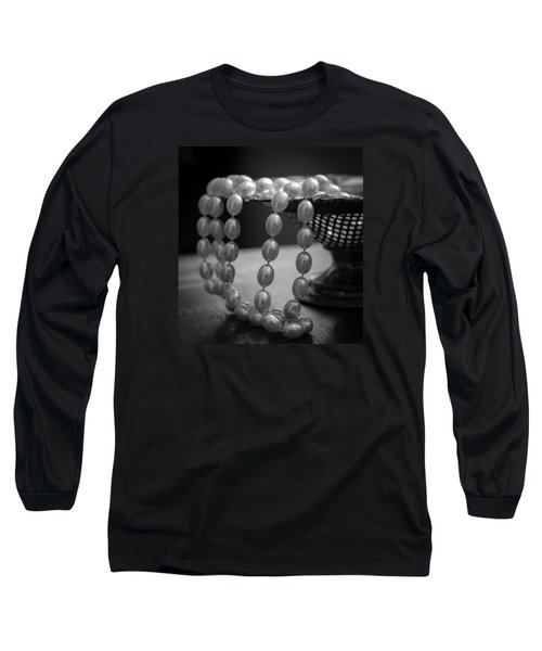 The Drama Of Pearls Long Sleeve T-Shirt by Patrice Zinck