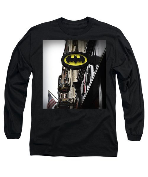 The Drink Of Super Heroes Long Sleeve T-Shirt by Nadalyn Larsen