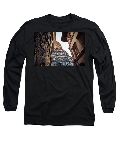 The Duomo Surrounded By Medieval Buildings In Florence, Italy Long Sleeve T-Shirt