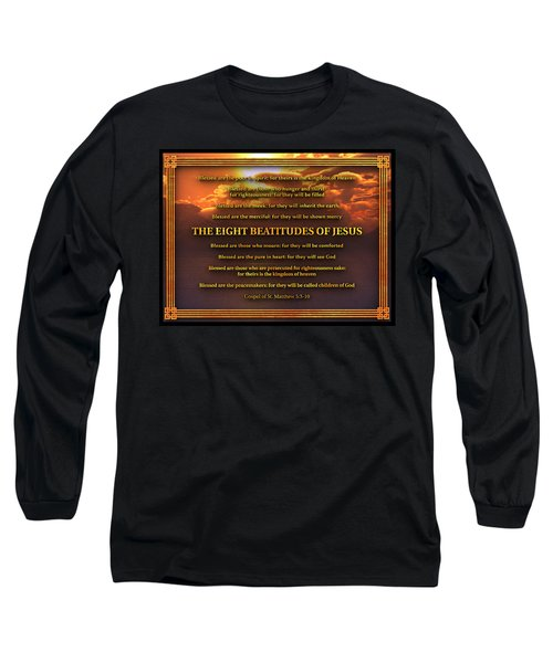 The Eight Beatitudes Of Jesus Long Sleeve T-Shirt