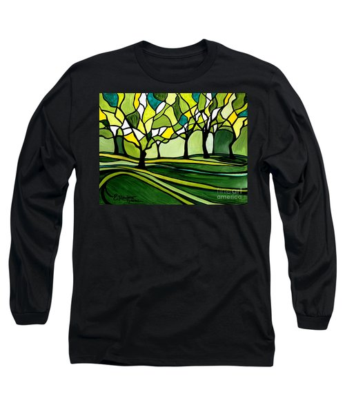 The Emerald Glass Forest Long Sleeve T-Shirt