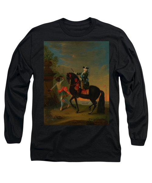 Long Sleeve T-Shirt featuring the painting The Empress Elizabeth Of Russia by Georg Grooth