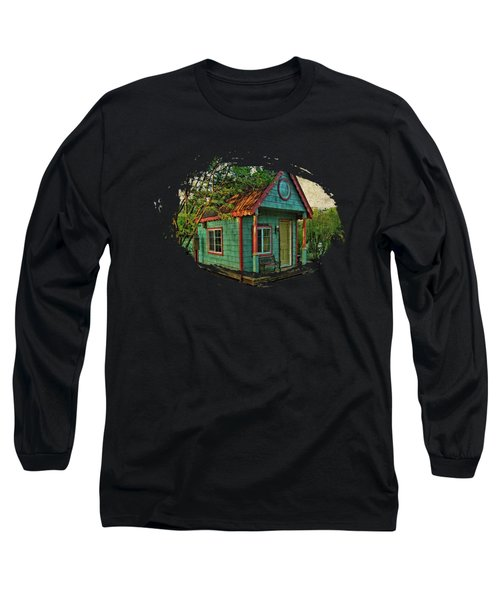 Long Sleeve T-Shirt featuring the photograph The Enchanted Garden Shed by Thom Zehrfeld