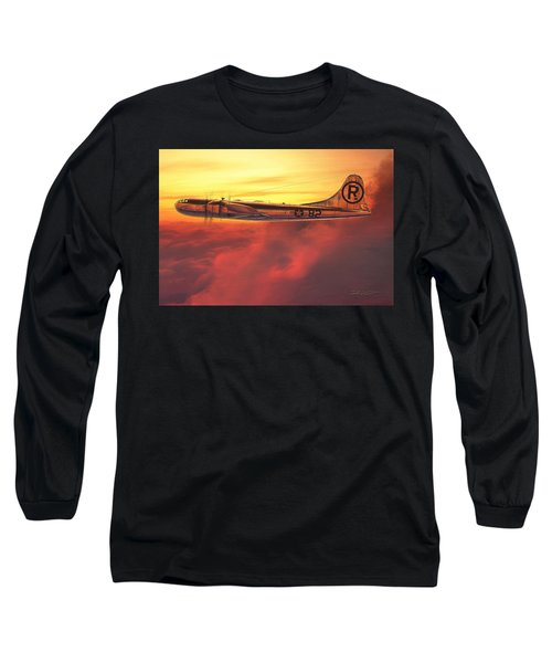 Enola Gay B-29 Superfortress Long Sleeve T-Shirt by David Collins