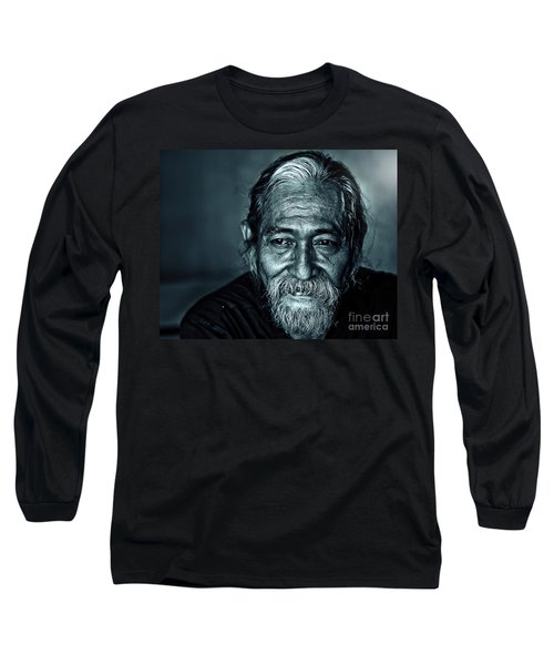 The Face Long Sleeve T-Shirt by Charuhas Images