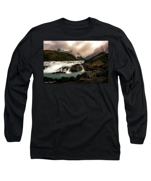 Long Sleeve T-Shirt featuring the photograph The Falls by Andrew Matwijec