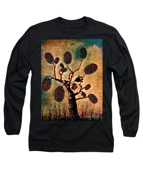 The Fingerprints Of Time Long Sleeve T-Shirt by Vennie Kocsis