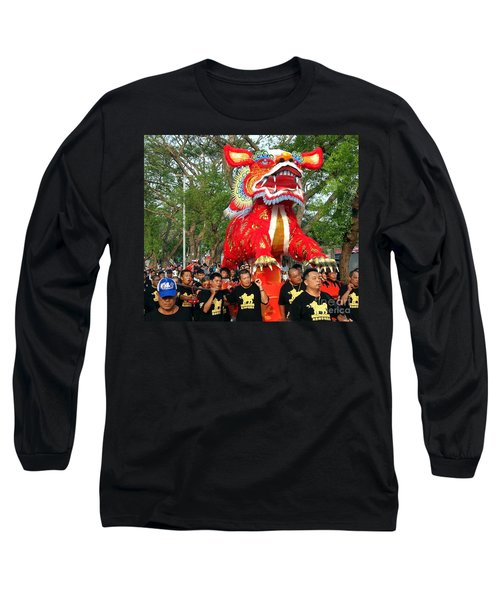 The Fire Lion Procession In Southern Taiwan Long Sleeve T-Shirt