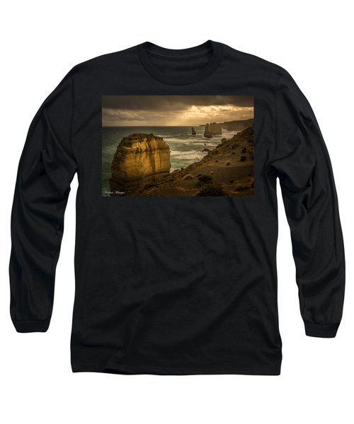 Long Sleeve T-Shirt featuring the photograph The Fire Sky by Andrew Matwijec