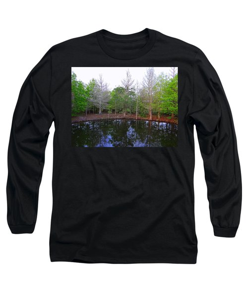 The Gator Hole At Green Cay In Florida Long Sleeve T-Shirt