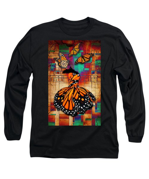 Long Sleeve T-Shirt featuring the mixed media The Gift Of Life by Marvin Blaine