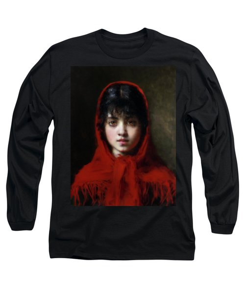 The Girl In The Red Shawl Long Sleeve T-Shirt