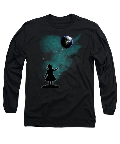 The Girl That Holds The World Long Sleeve T-Shirt by Nicklas Gustafsson