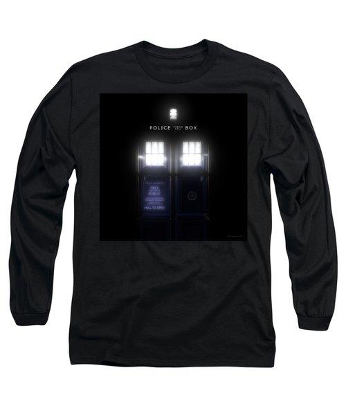 The Glass Police Box Long Sleeve T-Shirt