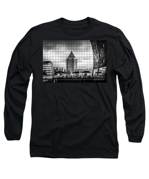 Long Sleeve T-Shirt featuring the photograph The Glass Windows Of The Market Hall In Rotterdam by RicardMN Photography