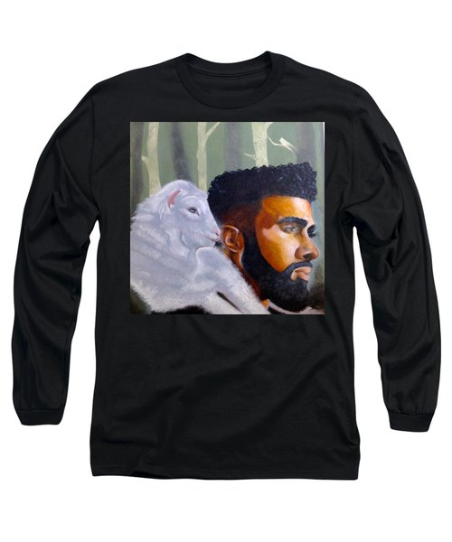 Long Sleeve T-Shirt featuring the painting The Good Shepherd  by Christopher Marion Thomas