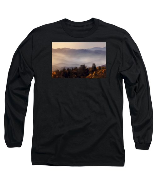Long Sleeve T-Shirt featuring the photograph The Great Smoky Mountains by Ellen Heaverlo