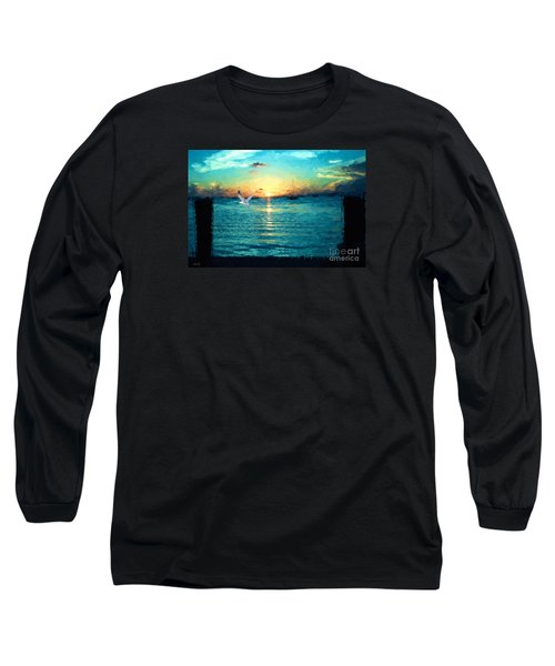 Long Sleeve T-Shirt featuring the painting The Gull by Judy Kay