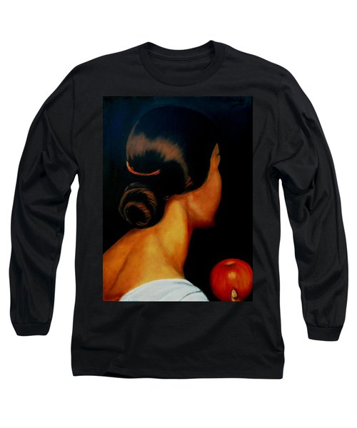 The Hair   Long Sleeve T-Shirt by Manuel Sanchez